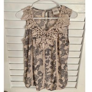💋Cute tank with crochet details